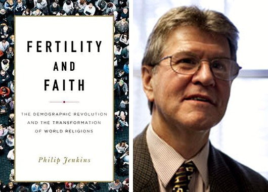Philip Jenkins y portada de Fertility and Faith.